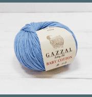 Пряжа GAZZAL Baby Cotton Gazzal Цвет.3423 Голубой