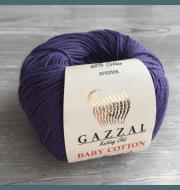 Пряжа GAZZAL Baby Cotton Gazzal Цвет.3440 Фиолетовый