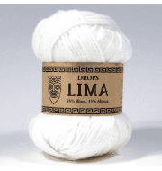 Пряжа DROPS Lima Цвет.1101 Белый