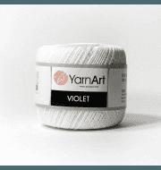 Пряжа YarnArt Violet Цвет.0003 Белый