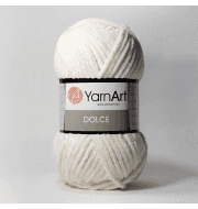 Пряжа YarnArt Dolce Цвет. 745 Молочный