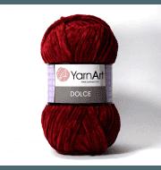 Пряжа YarnArt Dolce Цвет. 752 Винный