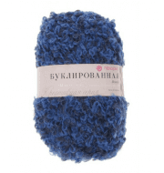 Пряжа Пехорка Буклированная Цвет.700 Темно-синий/темно-голубой