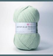 Пряжа Пехорка Ангорская теплая Цвет.09 Зеленое яблоко