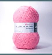 Пряжа Пехорка Ангорская теплая Цвет.11 Ярко розовый