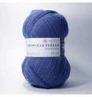 Пряжа Пехорка Ангорская теплая Цвет.256 Светлая джинса
