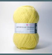 Пряжа Пехорка Ангорская теплая Цвет.75 Желтая роза