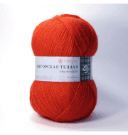 Пряжа Пехорка Ангорская теплая Цвет.88 Красный мак