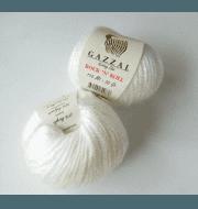Пряжа GAZZAL Rock n Roll Цвет. 13733 Белый