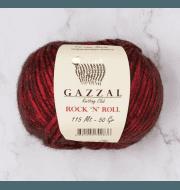 Пряжа GAZZAL Rock n Roll Цвет. 12833 Темно красный