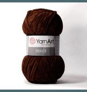 Пряжа YarnArt Dolce Цвет. 775 Шоколад