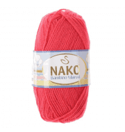 Пряжа Nako Bambino Marvel Цвет.9040 Малиновый