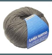Пряжа Lana Gatto SUPER SOFT Цвет.13777 серобеж.