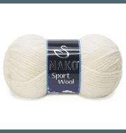 Пряжа Nako Sport Wool Цвет.300 Молочный