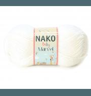 Пряжа Nako Bambino Marvel Цвет.208/9001 белый