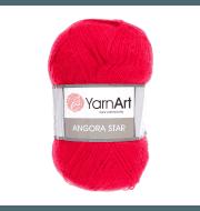 Пряжа YarnArt Angora Star Цвет.156 Алый