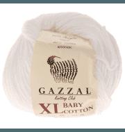 Пряжа GAZZAL Baby Cotton XL Цвет.3432XL Белый