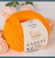 Пряжа GAZZAL Baby Cotton XL Цвет.3416XL Оранжевый