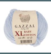 Пряжа GAZZAL Baby Cotton XL Цвет.3429XL Св.голубой
