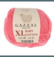 Пряжа GAZZAL Baby Cotton XL Цвет.3435XL Коралл