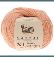 Пряжа GAZZAL Baby Cotton XL Цвет.3412XL Персик
