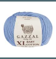 Пряжа GAZZAL Baby Cotton XL Цвет.3423XL Голубой