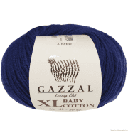 Пряжа GAZZAL Baby Cotton XL Цвет.3438XL Т.Синий