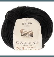 Пряжа GAZZAL Baby Cotton XL Цвет.3433XL Чёрный