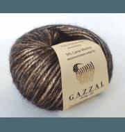 Пряжа GAZZAL Rock n Roll Цвет. 13092 Бронза-черный