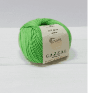 Пряжа GAZZAL Baby Cotton Gazzal Цвет.3427 Зеленый неон