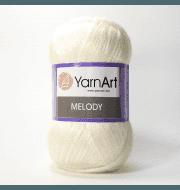 Пряжа YarnArt Melody Цвет.880 Белый меланж