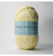 Пряжа Пехорка Хлопок натуральный Цвет.53 Св.желтый