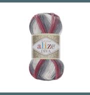 Пряжа Alize Diva Batik Цвет.5740 сер.бордо