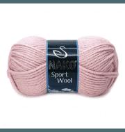 Пряжа Nako Sport Wool Цвет.10639 Грязно-розовый