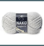 Пряжа Nako Spaghetti Цвет.195 Серый