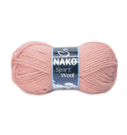 Пряжа Nako Sport Wool Цвет.2406 Персик