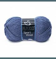 Пряжа Nako Sport Wool Цвет.23162 Джинсовый