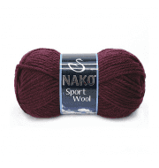 Пряжа Nako Sport Wool Цвет.3718 Бордо