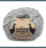 Пряжа DROPS Alpaca Boucle Цвет.5110m Light grey/св.серый