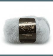 Пряжа DROPS Kid-Silk Цвет.06 Blue mist/синий туман