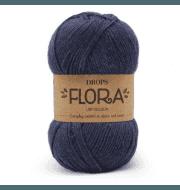 Пряжа DROPS Flora Цвет.10 Indigo/индиго