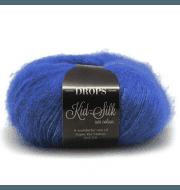 Пряжа DROPS Kid-Silk Цвет.21 Cobalt blue/кобальт