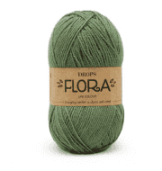 Пряжа DROPS Flora Цвет.15 Green/зеленый