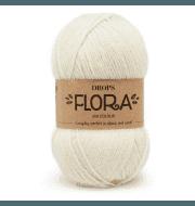 Пряжа DROPS Flora Цвет.01 Off white/кремовый