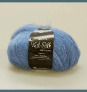 Пряжа DROPS Kid-Silk Цвет.08 Light jeans blue/св.джинс