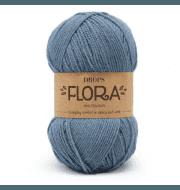 Пряжа DROPS Flora Цвет.13 Denim blue/джинсовый