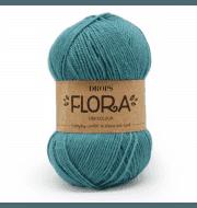 Пряжа DROPS Flora Цвет.12 Turquoise/бирюзовый