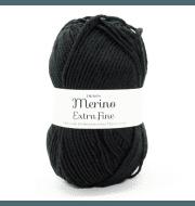 Пряжа DROPS Merino Extra Fine Цвет.02 Black/черный