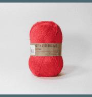 Пряжа Пехорка Крапивная Цвет.88-Красный мак