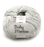 Пряжа DROPS Baby Merino Цвет.22m Light grey/св.серый